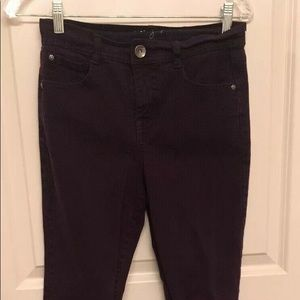 Style & Co. Petite 4P tummy control maroon jeans